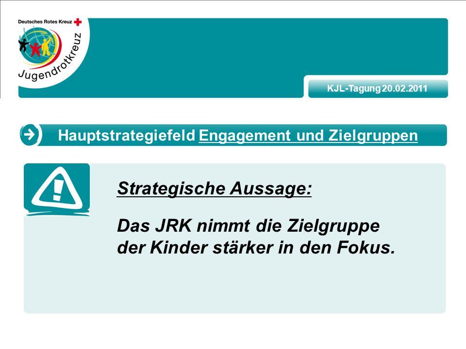 KJL-Tagung 20.02.2011 Strategische Aussage: Das JRK nimmt die Zielgruppe der Kinder stärker in den Fokus.