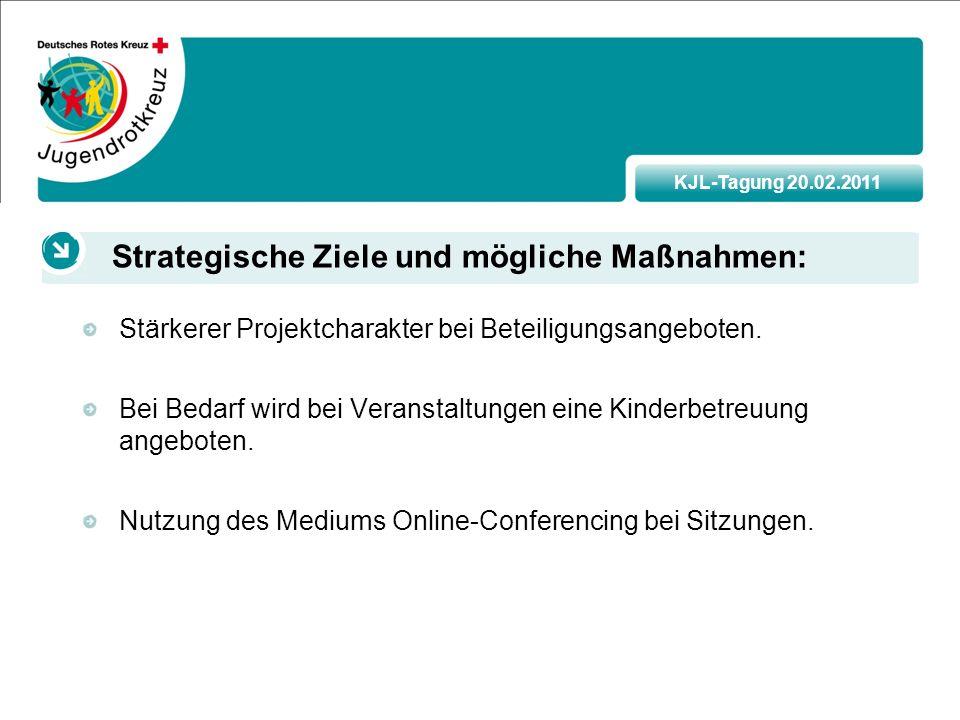 KJL-Tagung 20.02.2011 Stärkerer Projektcharakter bei Beteiligungsangeboten.