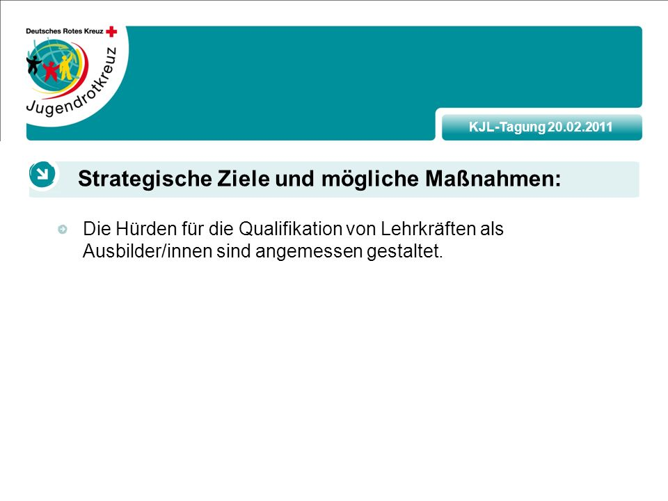 KJL-Tagung 20.02.2011 Die Hürden für die Qualifikation von Lehrkräften als Ausbilder/innen sind angemessen gestaltet.
