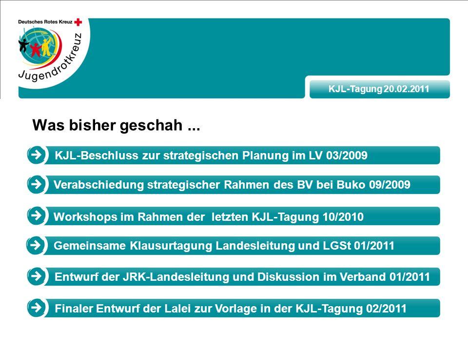 KJL-Tagung 20.02.2011 Was bisher geschah...