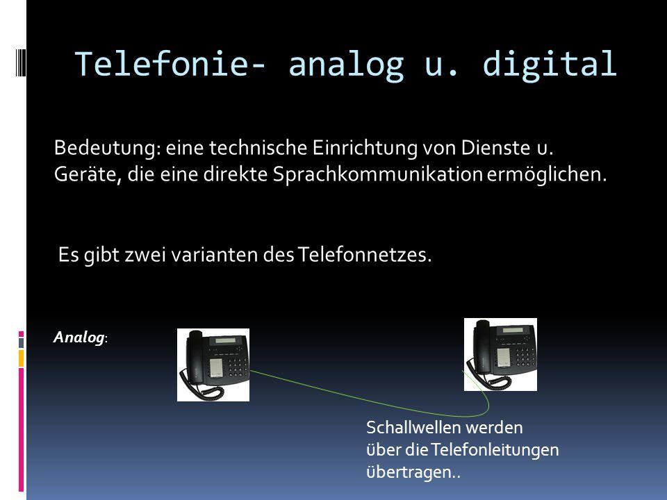Digital Schallwellen werden digitalisiert Digitale Daten werden in Schallwellen zurück verwandelt.