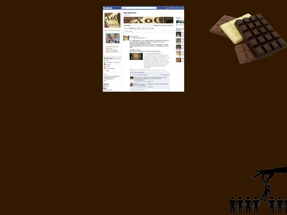 Unsere Facebook- Präsenz XoC Karriere