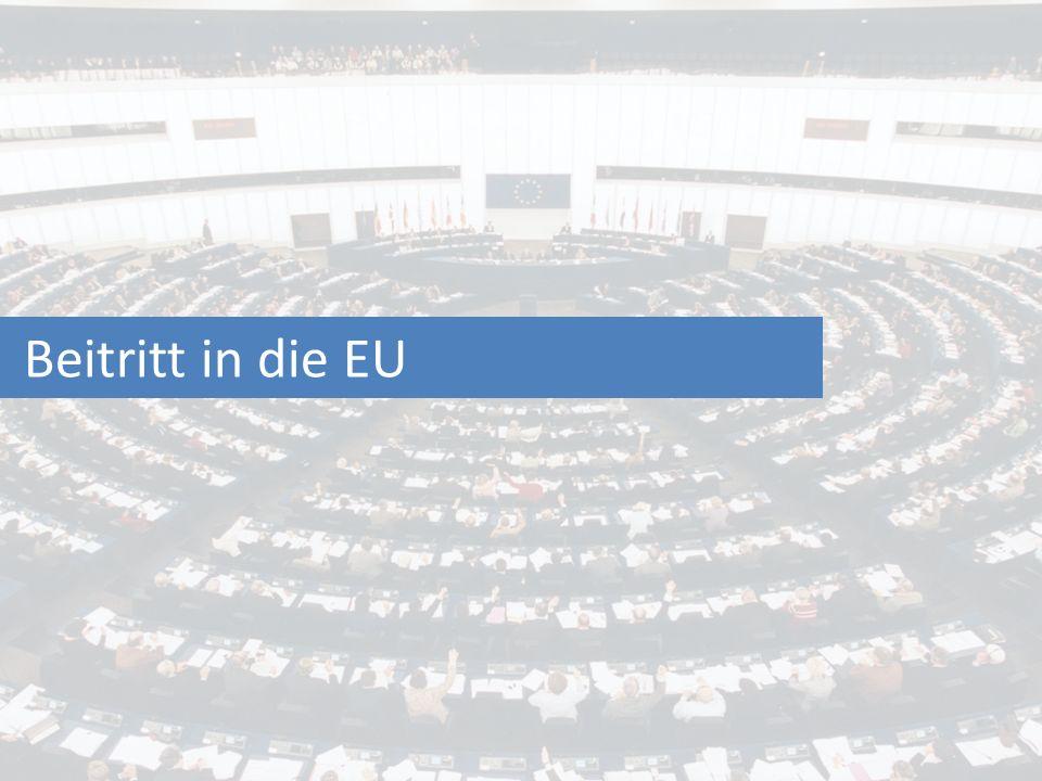 Beitritt in die EU