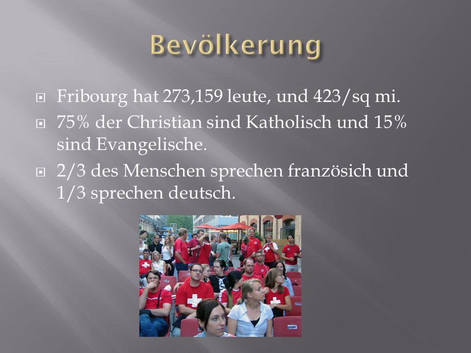 Fribourg hat 273,159 leute, und 423/sq mi.