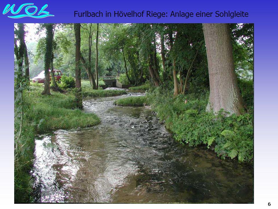 6 Furlbach in Hövelhof Riege: Anlage einer Sohlgleite