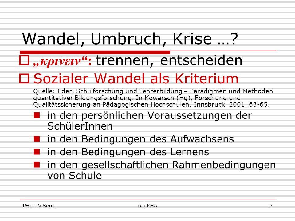 PHT IV.Sem.(c) KHA8 Eder in Kowarsch (Hg), Forschung und Qualitätssicherung an Pädagogischen Hochschulen.
