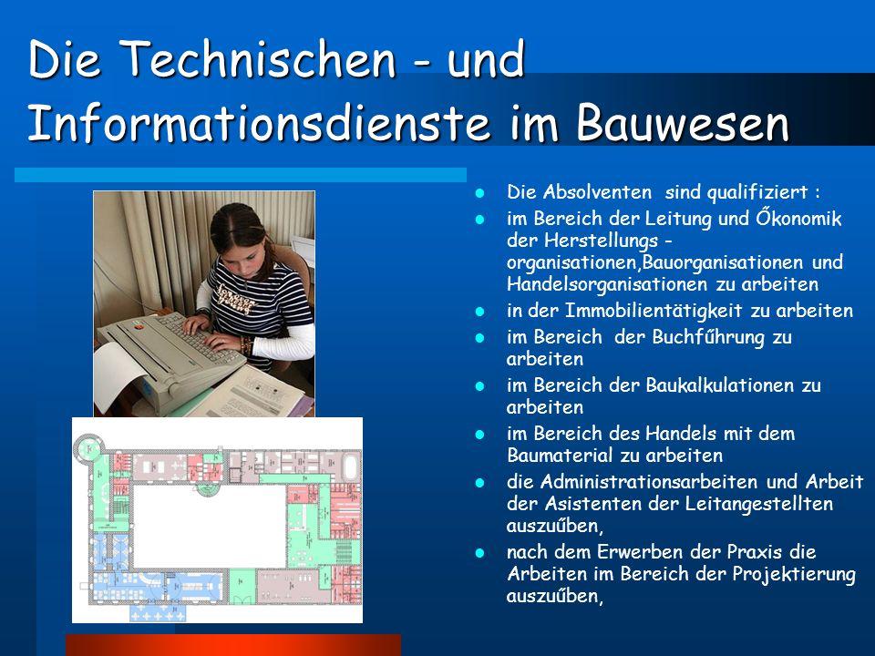 Partnerschule in der Tschechischen Republik SPŠ stavební v Českých Budějoviciach Zusammenarbeit im Bereich der Fachbildung freundliche Kontakte seit dem Jahre 2004