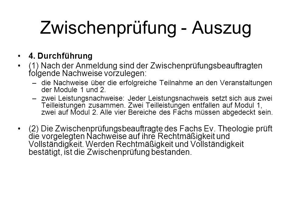 Zwischenprüfung - Auszug 4.