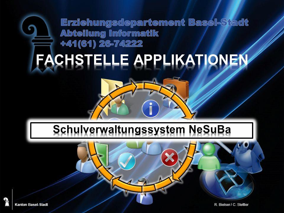 Kanton Basel-Stadt ICT pädagogisches Netz gp Untis SQL-Datenbank Produktiv und Testsystem PZ.BS Datenmarkt Basel-Stadt SAP Crystal Reports Dokumentenablage Staatliche Schulen Institutionen Notentool Webportal