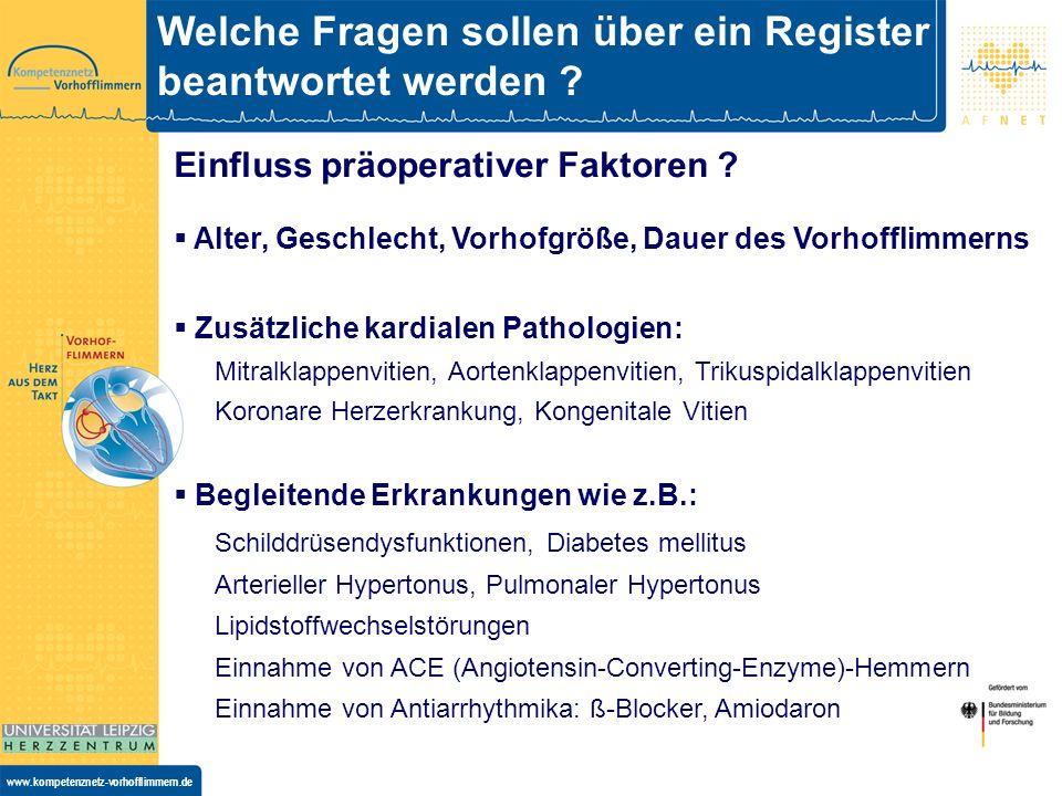 www.kompetenznetz-vorhofflimmern.de Einfluss intraoperativen Faktoren.