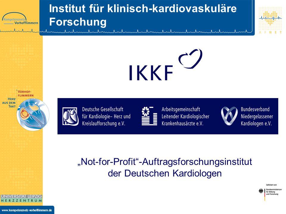 www.kompetenznetz-vorhofflimmern.de IKKF-Services im AFNET Projektvorbereitung Projektmanagement Datenmanagement, das e-Trial Management System Zentrumsmanagement Monitoring Honorierung Datenaufbereitung für statistische Analysen