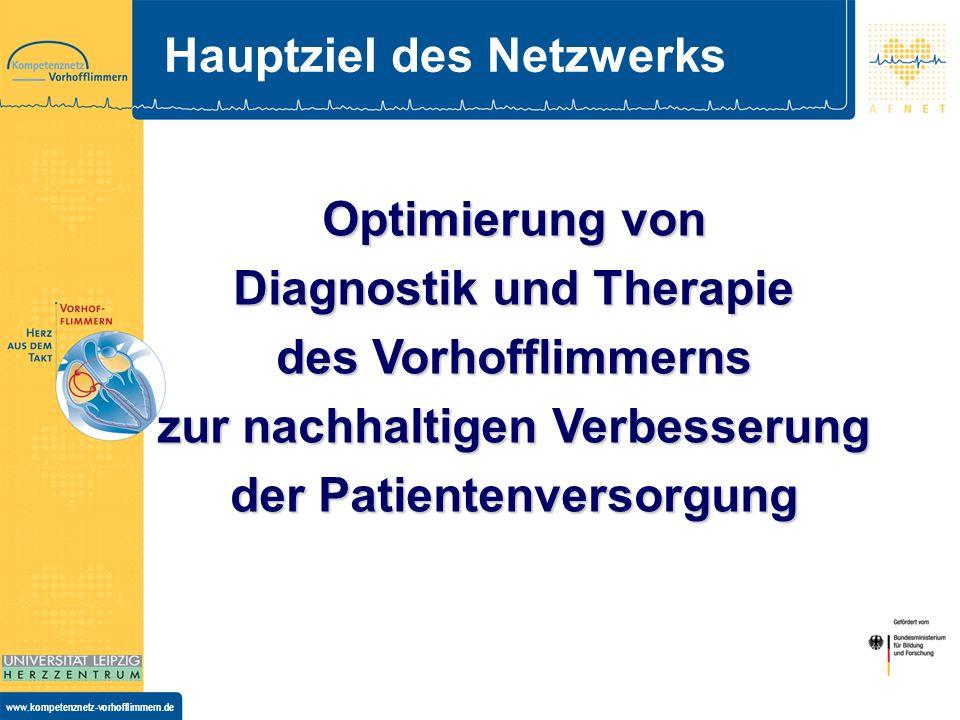 www.kompetenznetz-vorhofflimmern.de Studienzentren 14 regionale Koordinierungzentren ca.
