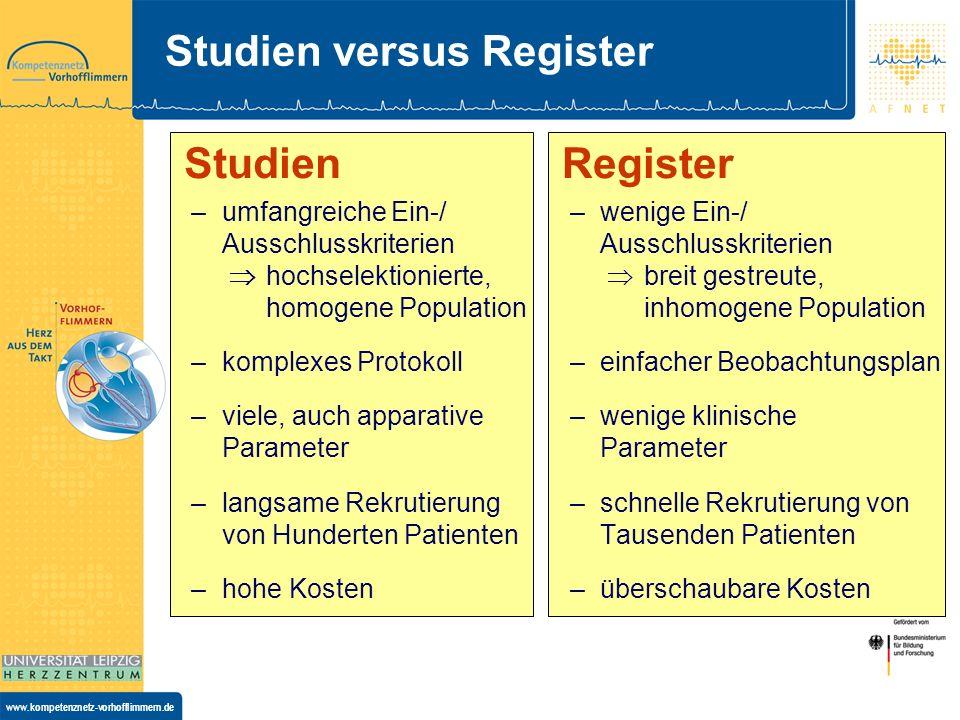 www.kompetenznetz-vorhofflimmern.de Warum ein Register für chirurgische Vorhofablationen .