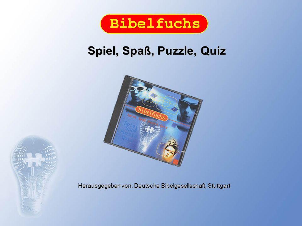 Bibelfuchs, der Rätselspaß rund um die Bibel Spiel und Spaß für Kinder, Jugendliche und Erwachsene: Mit seinen Rätselspielen vermittelt der Bibelfuchs auf unterhaltsame Art Wissen rund um die Bibel.