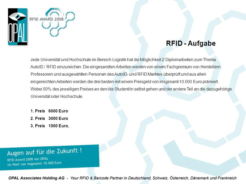 Jede Universität und Hochschule im Bereich Logistik hat die Möglichkeit 2 Diplomarbeiten zum Thema AutoID / RFID einzureichen.