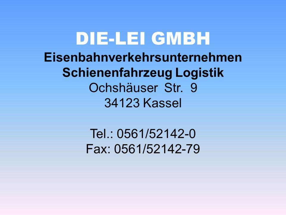 DIE-LEI GMBH Eisenbahnverkehrsunternehmen Schienenfahrzeug Logistik Ochshäuser Str.