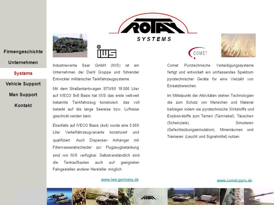 S Y S T E M S Firmengeschichte Unternehmen Systems Industriewerke Saar GmbH (IWS) ist ein Unternehmen der Diehl Gruppe und führender Entwickler militä