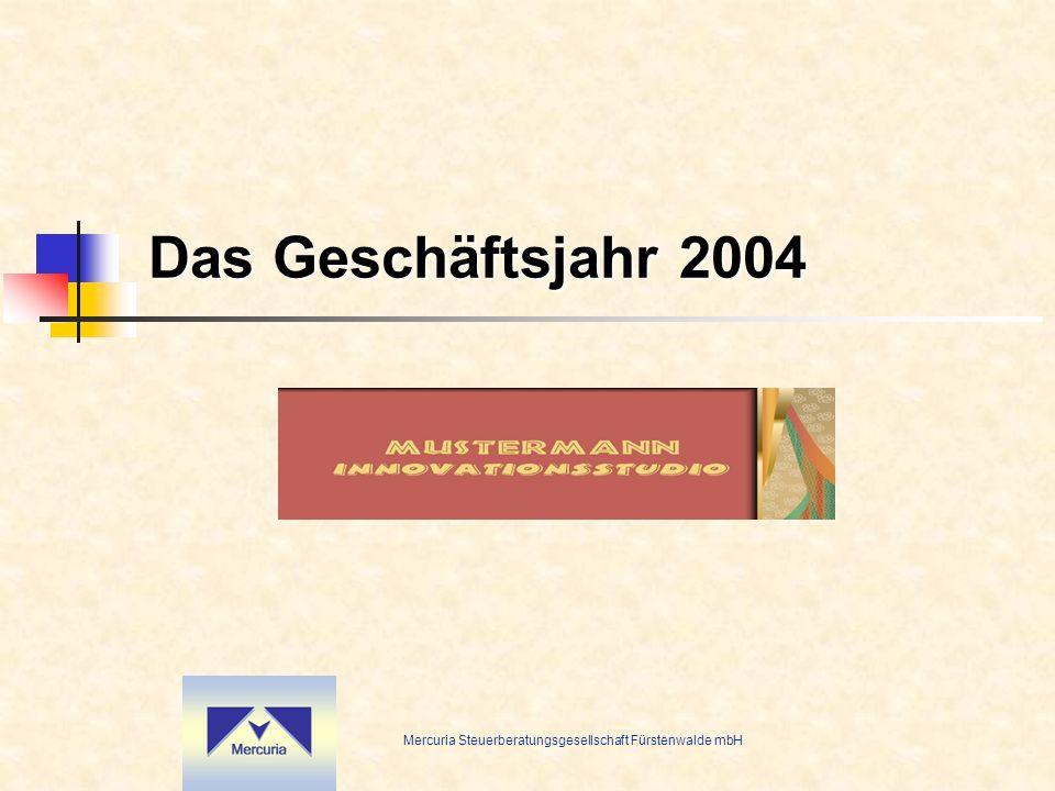 Mercuria Steuerberatungsgesellschaft Fürstenwalde mbH Wie erfolgreich war 2004.