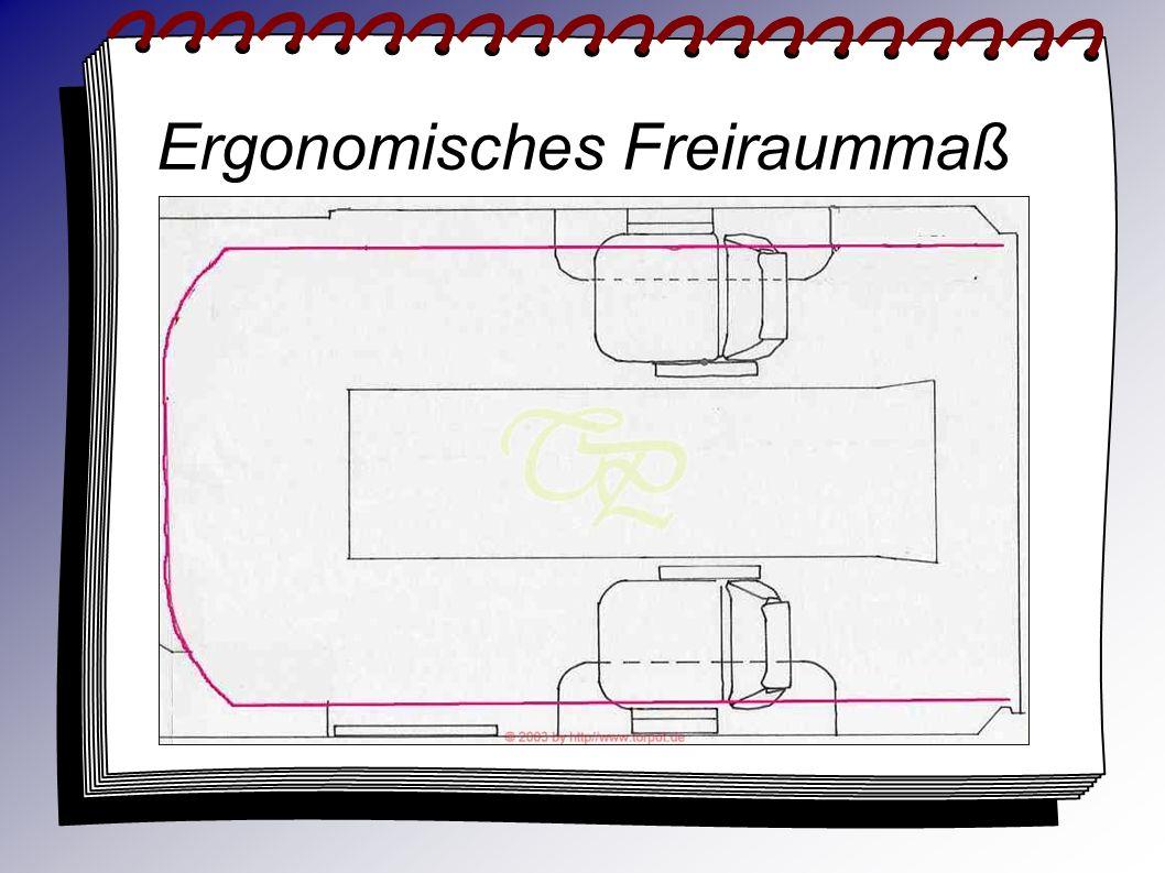 Ergonomisches Freiraummaß