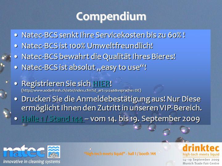 Compendium Natec-BCS senkt Ihre Servicekosten bis zu 60% !Natec-BCS senkt Ihre Servicekosten bis zu 60% ! Natec-BCS ist 100% Umweltfreundlich!Natec-BC