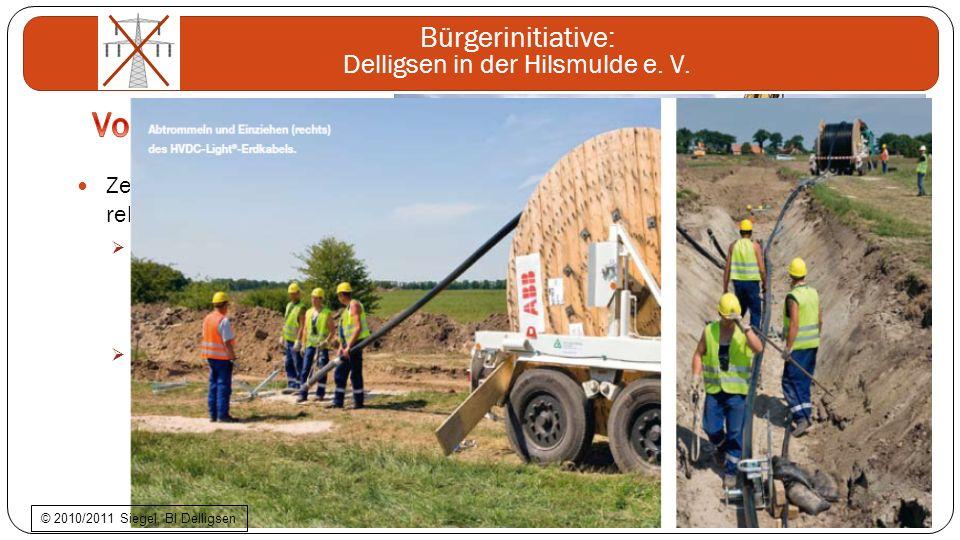 Bürgerinitiative: Delligsen in der Hilsmulde e. V. Zerstörung des Landschaftsbildes relativ gering nach Abschluss fachgerechter Erdarbeiten ist der Ka