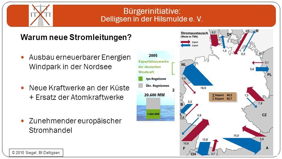 Bürgerinitiative: Delligsen in der Hilsmulde e. V. Ausbau erneuerbarer Energien Windpark in der Nordsee Neue Kraftwerke an der Küste + Ersatz der Atom