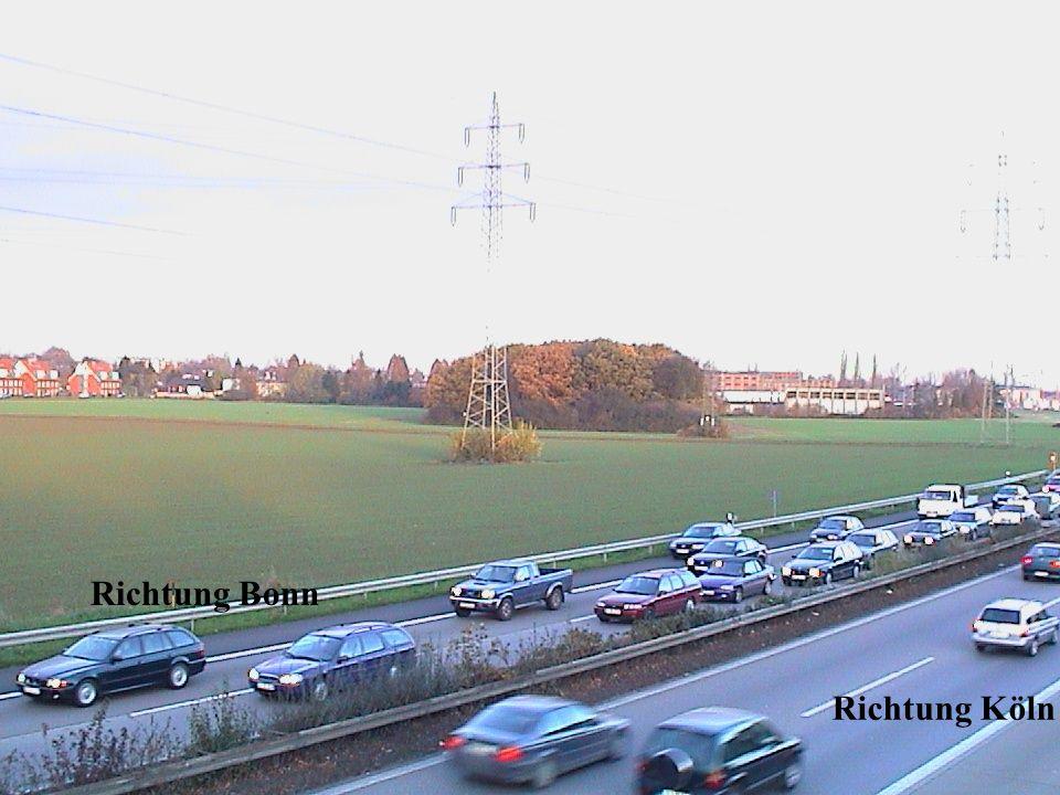 Verkehrsdichte in Richtung Köln