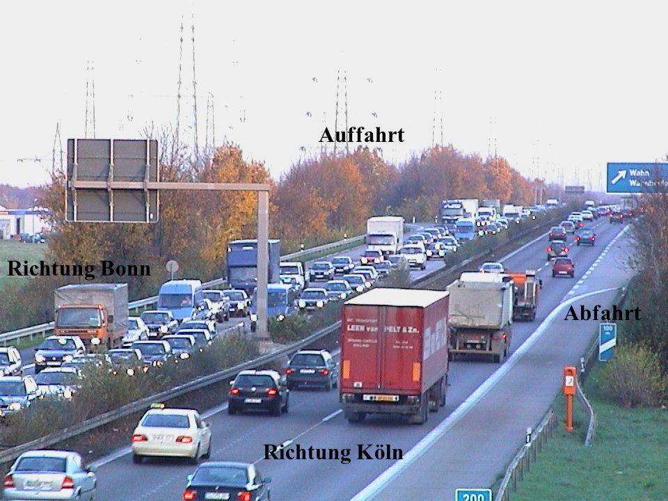 Richtung Köln Richtung Bonn Auffahrt Abfahrt