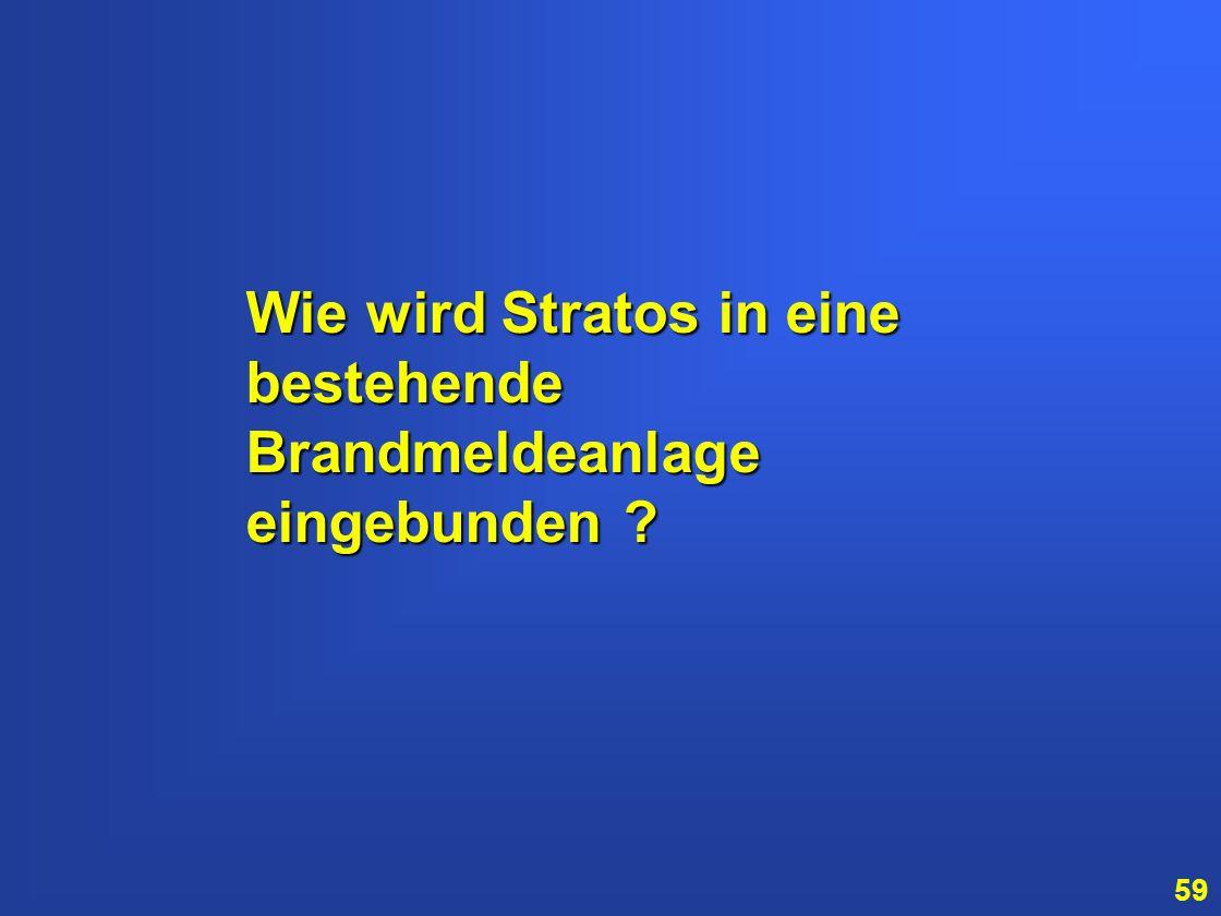 58 Stratos kann Rauch von anderen Partikeln (z.B. Staub oder Dieselabgase) unterscheiden und vermeidet dadurch Probleme durch Luftverunreinigungen. Al