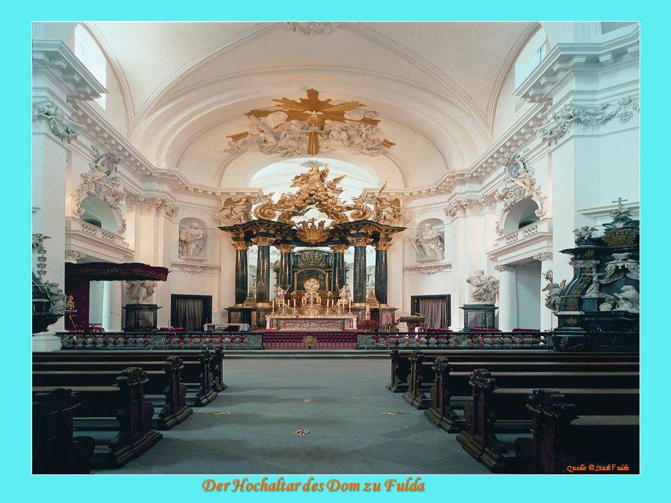 Der Hochaltar des Dom zu Fulda Quelle: © Stadt F ulda