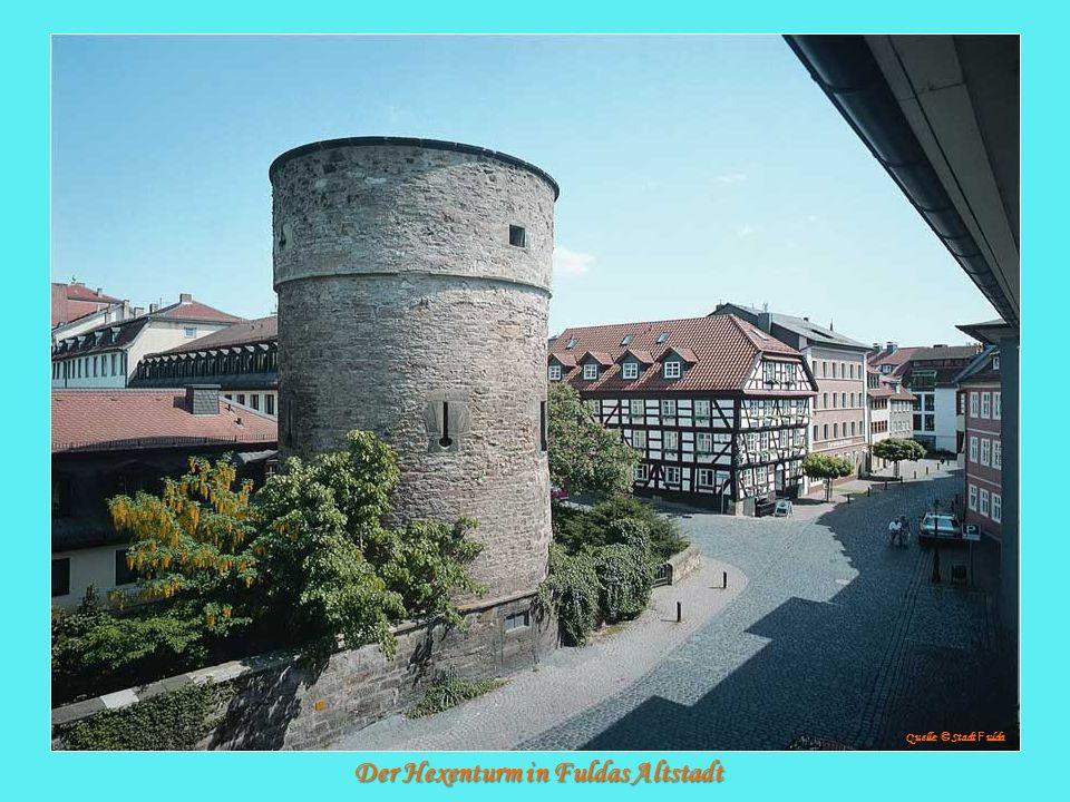 Der Hexenturm in Fuldas Altstadt Quelle: © Stadt F ulda