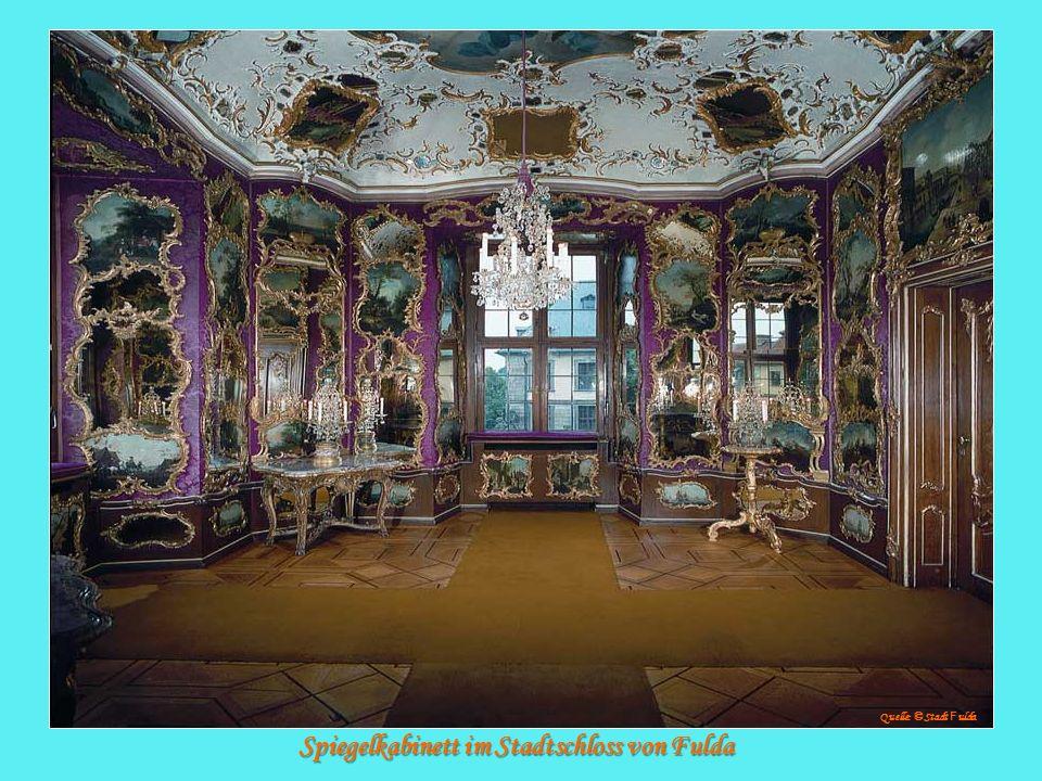 Spiegelkabinett im Stadtschloss von Fulda Quelle: © Stadt F ulda