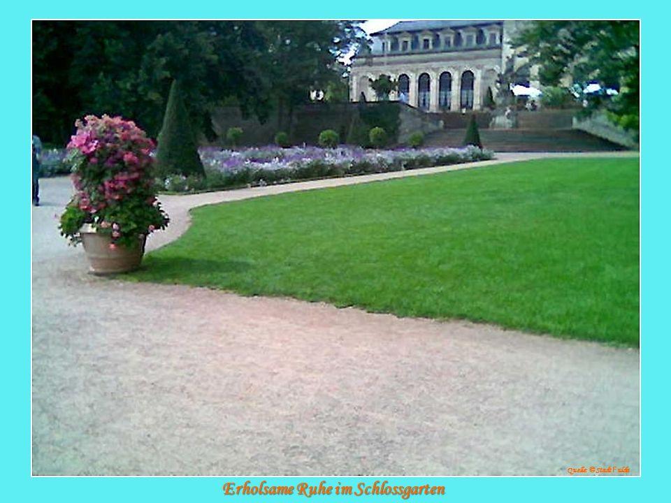 Erholsame Ruhe im Schlossgarten Quelle: © Stadt F ulda