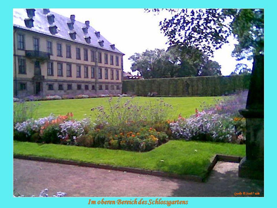 Im oberen Bereich des Schlossgartens Quelle: © Stadt F ulda