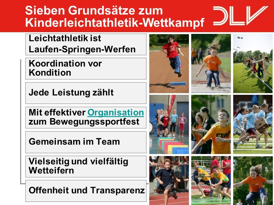13 Leichtathletik ist Laufen-Springen-Werfen Koordination vor Kondition Jede Leistung zählt Mit effektiver Organisation zum BewegungssportfestOrganisa