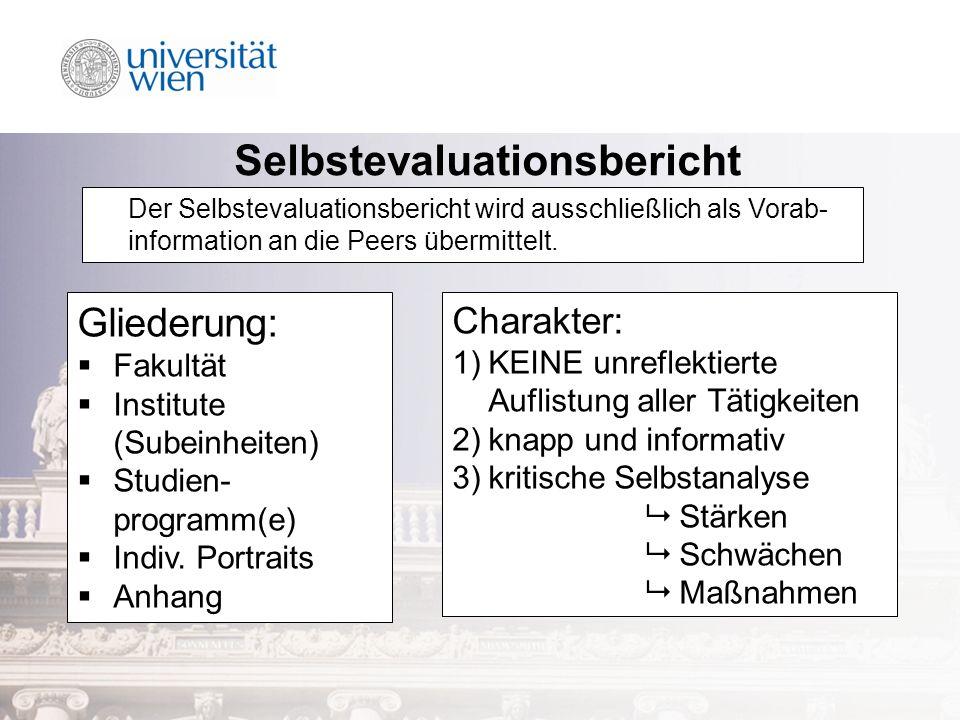 Gliederung: Fakultät Institute (Subeinheiten) Studien- programm(e) Indiv.
