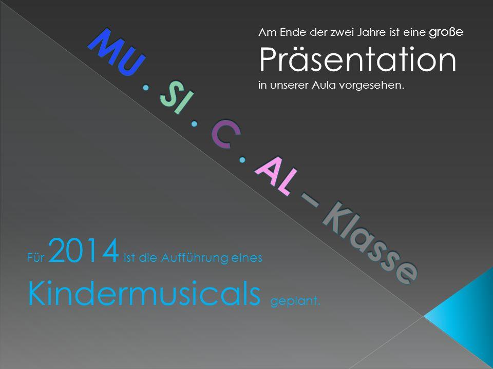Erste Projekte Kleine Aufführungen in sozialen Einrichtungen Besichtigung eines Theaters Mehrtägige Musikfreizeit Besuch von Theateraufführungen
