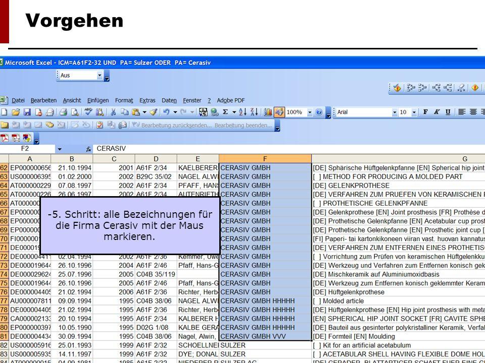 Lehrstuhl für Organisation, Technologie- und Innovationsmanagement, Prof. Dr. Margit Osterloh 9 Vorgehen -5. Schritt: alle Bezeichnungen für die Firma