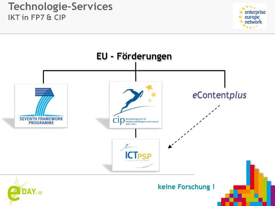 Firmenlogo EU - Förderungen eContentplus keine Forschung ! Technologie-Services IKT in FP7 & CIP