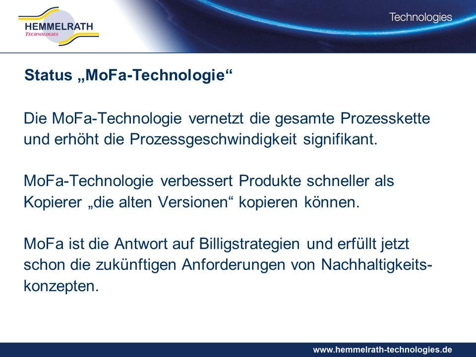 Die MoFa-Technologie vernetzt die gesamte Prozesskette und erhöht die Prozessgeschwindigkeit signifikant.
