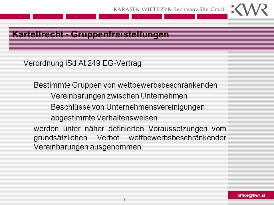 office@kwr.at 18 Grundzüge des Patentrechts V Neuheit (§ 3 Abs 1 PatG): E.