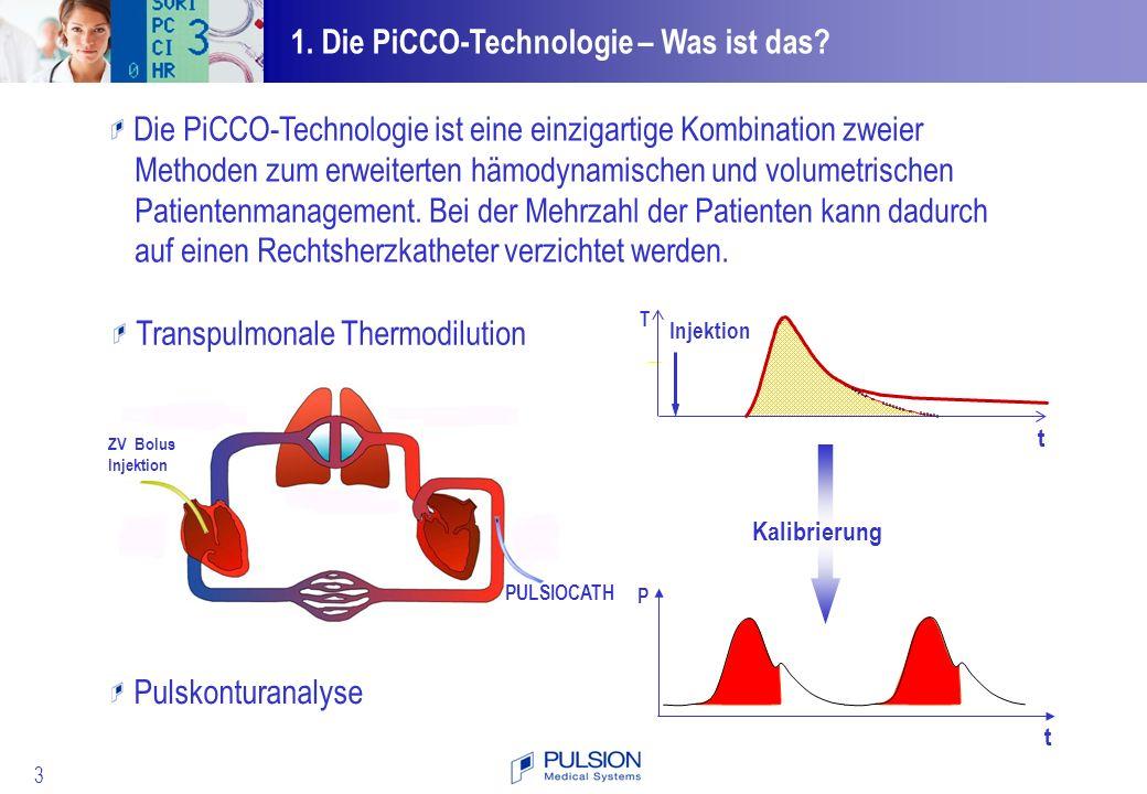 54 Patientensteuerung mit der PiCCO-Technologie.