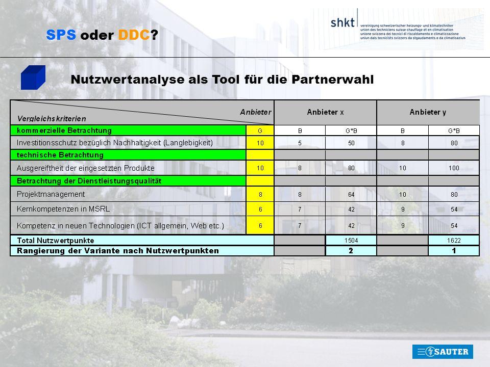 SPS oder DDC? Nutzwertanalyse als Tool für die Partnerwahl