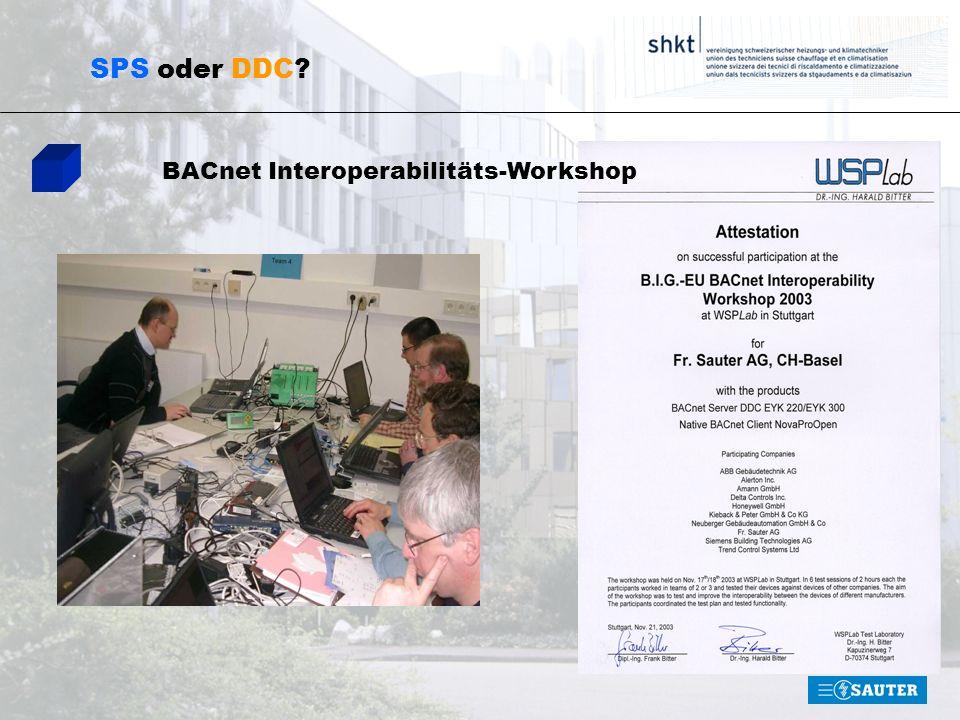 SPS oder DDC? BACnet Interoperabilitäts-Workshop