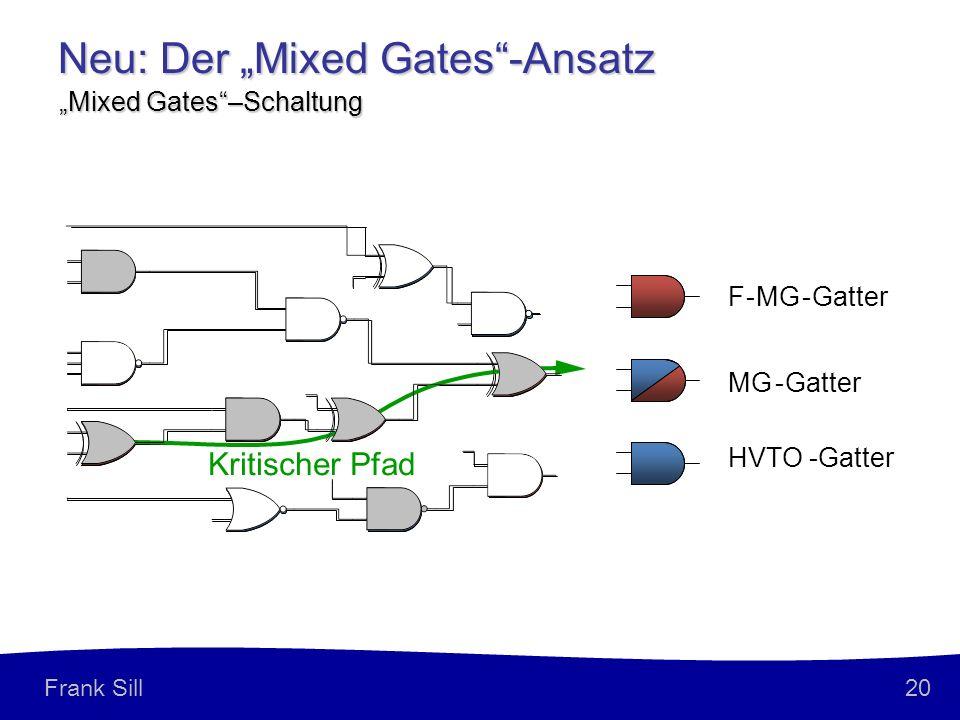 20 Frank Sill Neu: Der Mixed Gates-Ansatz Mixed Gates–Schaltung