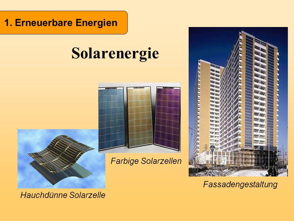 Hauchdünne Solarzelle Solarenergie 1. Erneuerbare Energien Farbige Solarzellen Fassadengestaltung