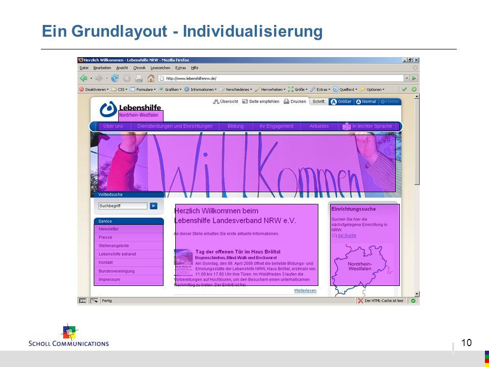 10 Ein Grundlayout - Individualisierung