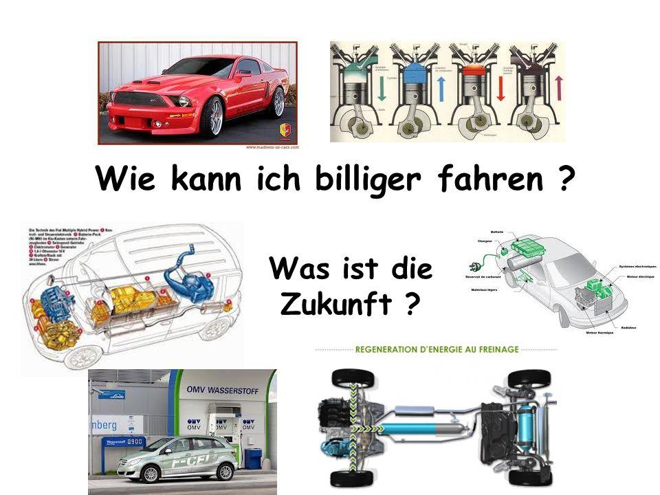 Wie kann ich billiger fahren ? Was ist die Zukunft ?