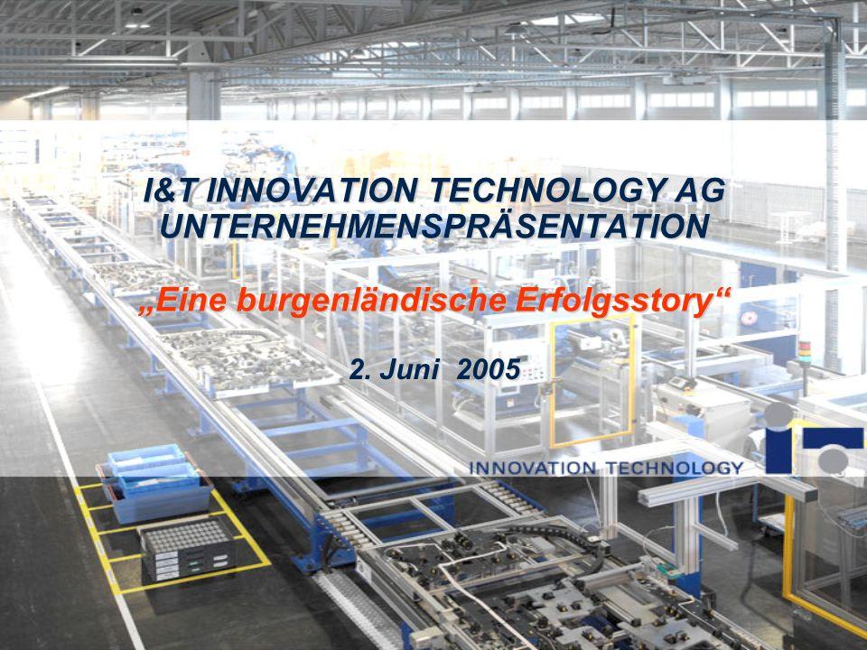 I&T INNOVATION TECHNOLOGY AG UNTERNEHMENSPRÄSENTATION Eine burgenländische Erfolgsstory 2. Juni 2005