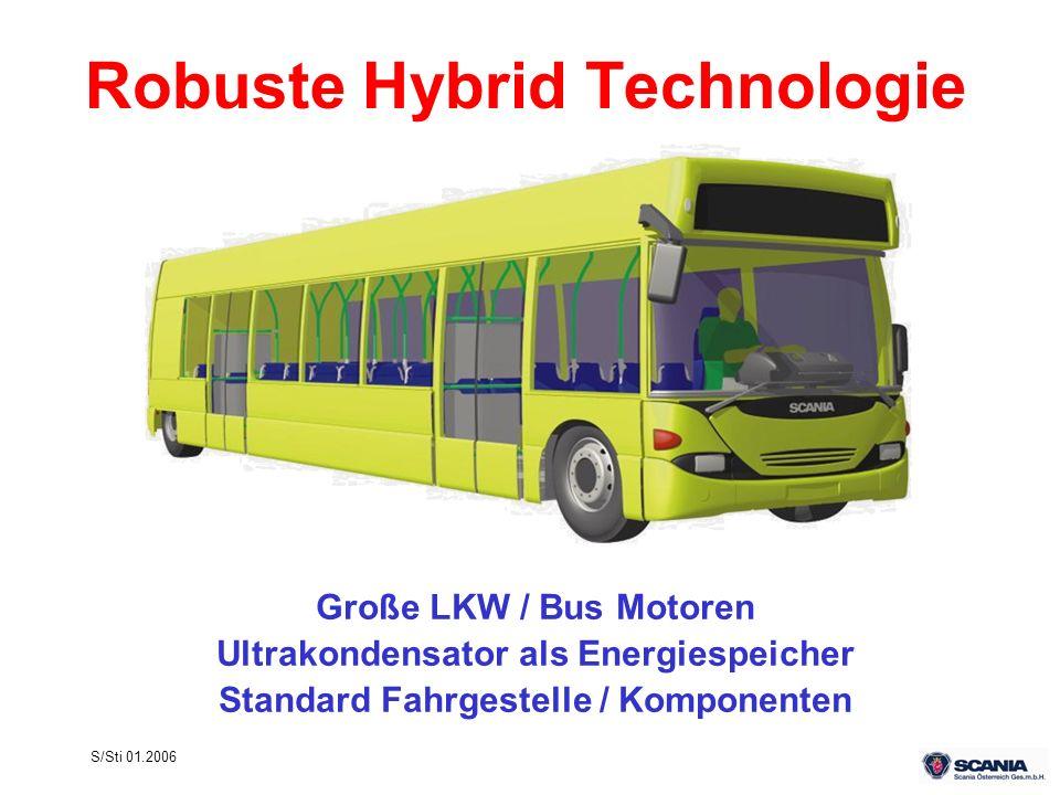 S/Sti 01.2006 Robuste Hybrid Technologie Große LKW / Bus Motoren Ultrakondensator als Energiespeicher Standard Fahrgestelle / Komponenten
